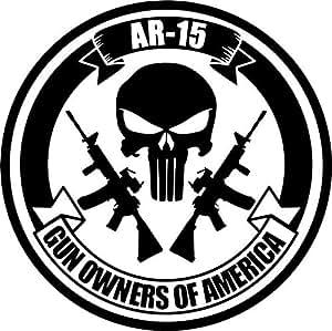 Amazon Com Ar 15 Gun Owners Of America Vinyl Decal