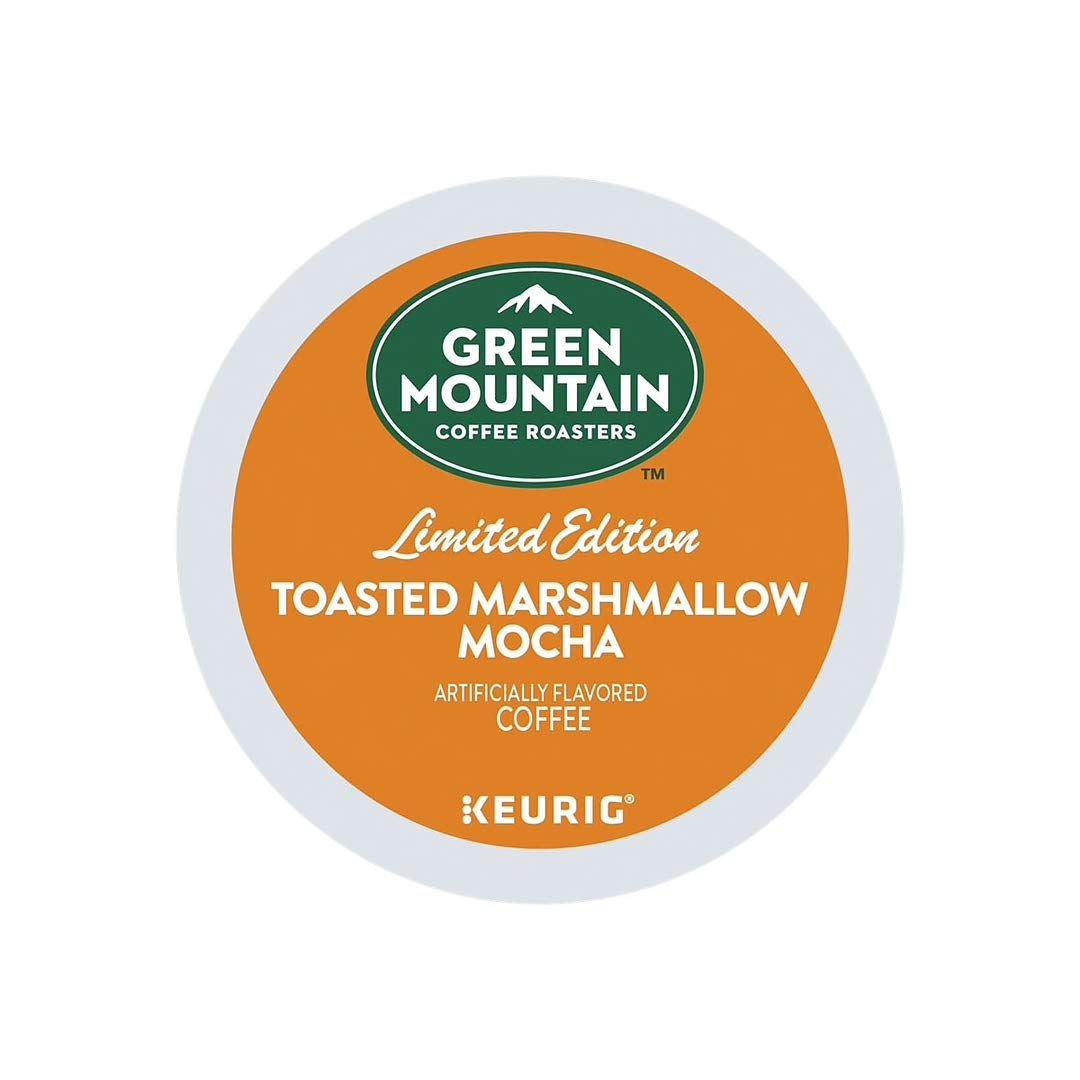 Green Mountain Coffee Roasters Toasted Marshmallow Mocha, Single-Serve Keurig K-Cup Pods, Flavored Light Roast Coffee, 24 Count