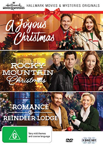 Hallmark Christmas 3 Film Collection (A Joyous Christmas/Rocky Mountain Christmas/Romance at Reindeer - Romance Movies Dvd