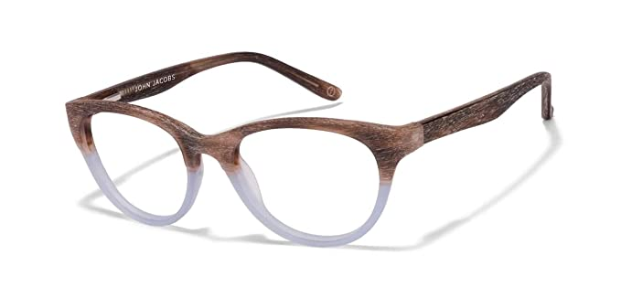 eb0086481ed Image Unavailable. Image not available for. Colour  Matte Brown Grey  Transaprent Full Rim Cat Eye Medium (Size-51) John Jacobs