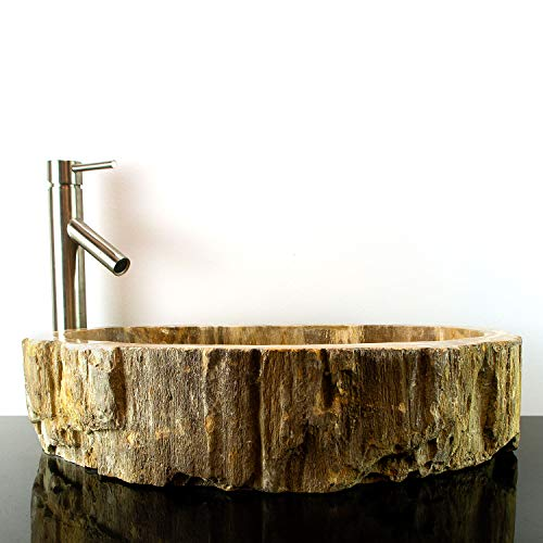 Bathroom Counter Top Petrified Wood Vessel Basin Sink PETDD-01