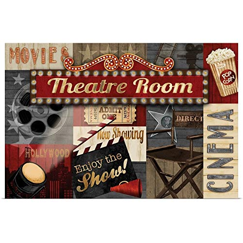 Great Big Canvas Poster Print Entitled Theatre Room by Conrad Knutsen 60