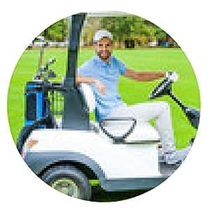 alfombrilla de ratón Hombre que conduce el carro de golf. - ronda - 20cm