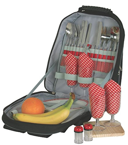 Deluxe Picnic Backpack Set for Two or Four (Deluxe Backpack For 4)