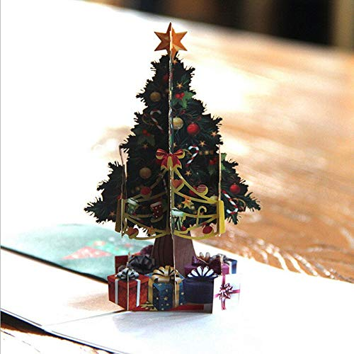 Display Bracelet - Christmas Tree 3d Greeting Cards Year Event Party Paper Diy Hand Made Gifts Souvenirs Postcards - Globe Anniversary Occasions Flowers Blank Card Assortment Greeting Car -