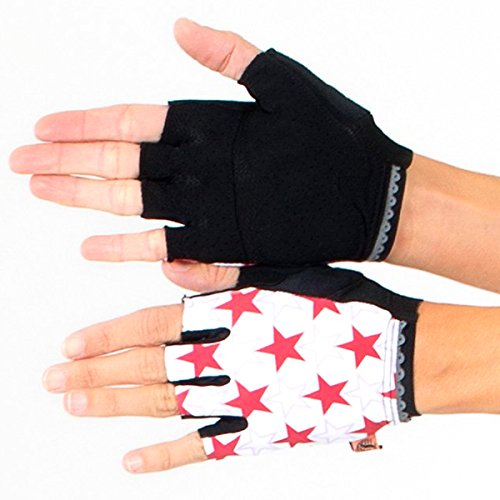 (Shebeest 2018 Women's Shine Short Finger Cycling Glove - 3660-SH (Shine-White - MD))