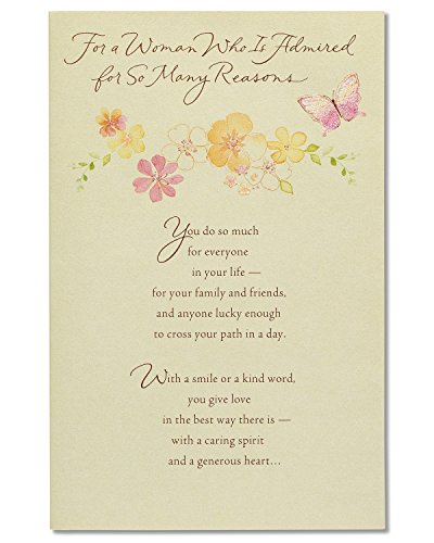 American Greetings Butterflies Mother's Day Card With Glitter (5856825)