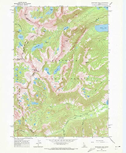 YellowMaps Snowyside Peak ID topo map, 1:24000 Scale, 7.5 X 7.5 Minute, Historical, 1964, Updated 1972, 26.8 x 22 in - Paper