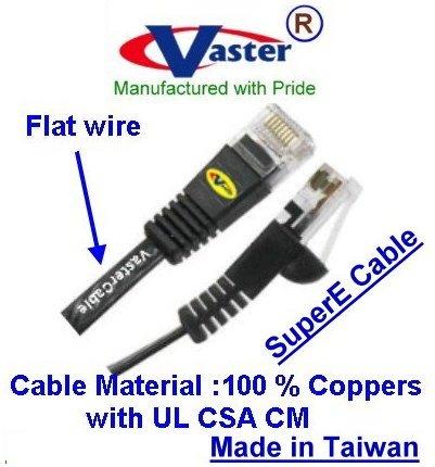 50 Ft CAT5e Ethernet Flat Cable RJ45 Ribbon Cable 5 Pcs//Pack