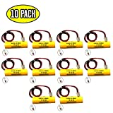 (10 Pack) 1.2v 900mAh Unitech AA900mAh OSA268 Lithonia EXR LED EL M6 ELB CS01 Exit Sign Emergency Light NiCad Battery Replacement White Connector