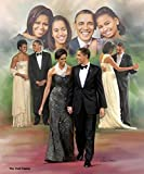 The First Family: Barack, Michelle, Malia and Natasha Obama by Wishum Gregory (Unframed Art Print - 24x20 inches)