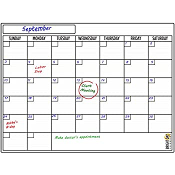 Amazon.com : Extra Large Dry Erase Calendar for Home or