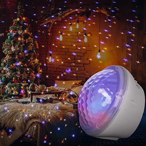 Sternenhimmel Projektor, LED Nachtlicht für Kinder, 4 Modi und Timer Einstellung, Drei Platzierungsmethoden, für Schlafzimmer Geburtstagsfeier, Weihnachtsgeschenke