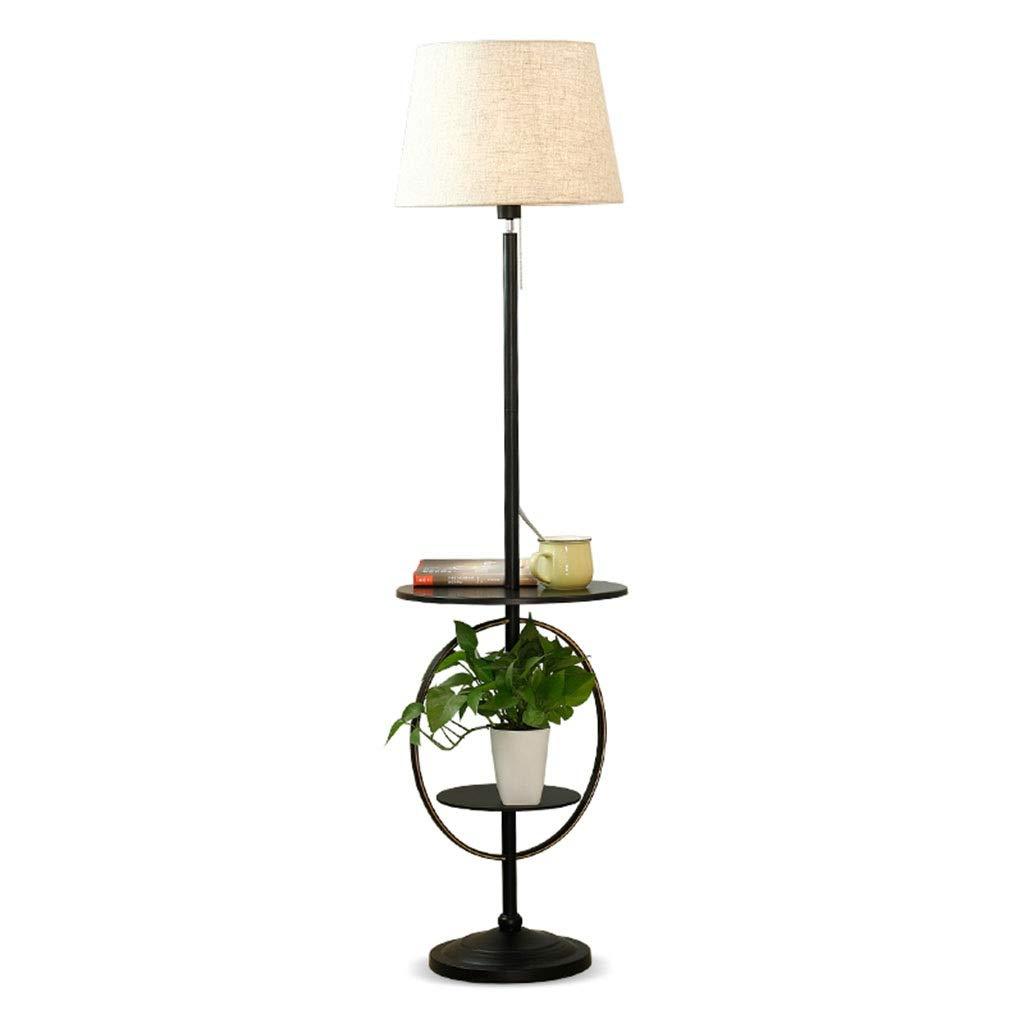 Sala de estar Lámpara de pie Lámpara de mesa de café Sofá con ...