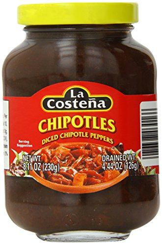 La Costena Chipotle Peppers, Diced, 8.11 Ounce (Chipotle Peppers In Adobo Sauce La Costena)