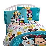 "Disney Tsum Tsum 'Mash Up' Teal Flannel/Silk Touch 62"" x 90"" Twin Blanket"