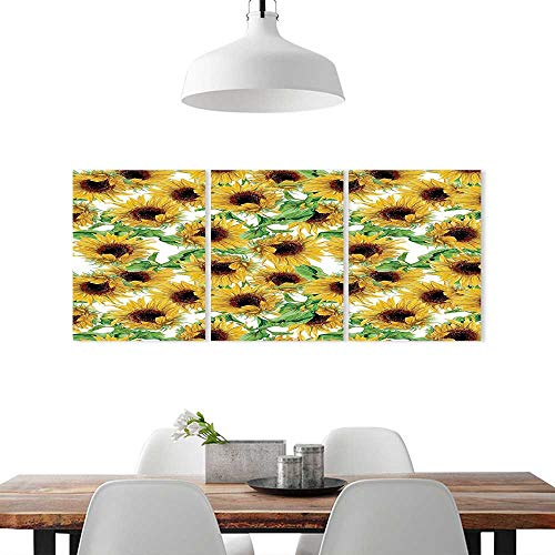Wild Collection Sunflower (Triptych Painting Combination Frameless W14