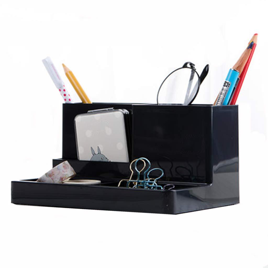 Portapluma, Moda Creativa, corazón de niña, Lindo, Caja de Oficina Almacenamiento, decoración de Escritorio, Oficina de multifunción, Cubo de plástico Simple y de Gran Capacidad, papelería para Estudiantes d83a6c