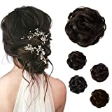 Beauty Angelbella Hair Bun Extension Synthetic Ponytail Wavy Curly Messy Hair Pieces Hairpiece for Women (2#)