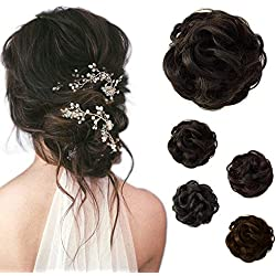 Beauty Angelbella Hair Bun Extension Synthetic Ponytail Wavy Curly Messy Hair Pieces Hairpiece for Women