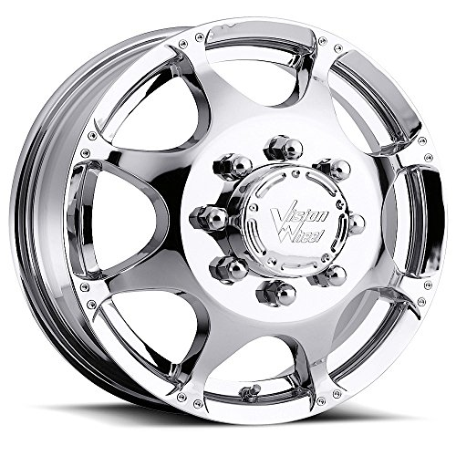 VISION 715 Crazy Eight Chrome Front Wheel with Chrome Fin...