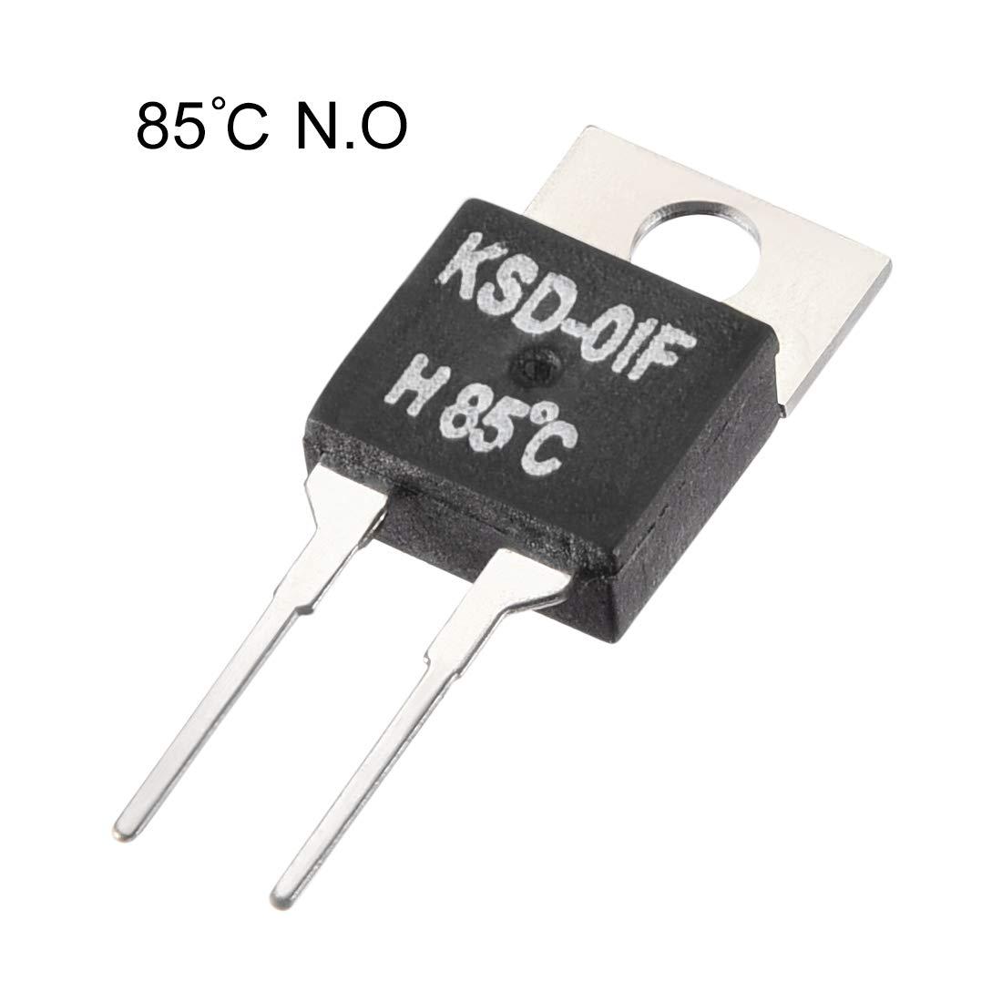 sourcing map KSD-01F Termostato Controlador de temperatura 40℃ N.O Apertura normal 5pcs