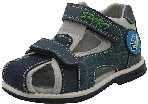 (Apakowa Toddler Boys Double Adjustable Strap Closed Toe Sport Sandals (Color : Lightblue, Size : 7 M US Toddler) )