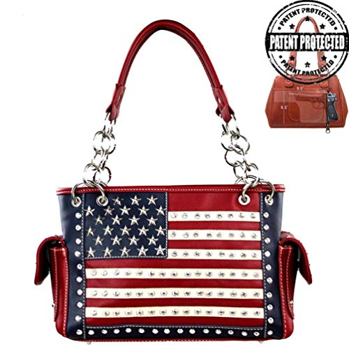 Montana West Womens Concealed Carry Satchel Purse American Pride Collection US04G-8085