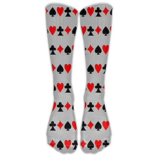 (SARA NELL Men Women Funny Novelty Socks Playing Cards Crew Socks Classic Sport Athletic Socks 40Cm Long Tube Socks Stockings-Best Gift)