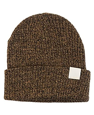 BYOS Midweight Ribbed Beanie Fisherman Knit Hat With Ivory Appliqué (Mustard)