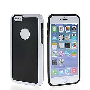 QUSECASE Carcasa de TPU Gel silicona cubierta protectora Caso Tapa Funda Case Para Apple iPhone 6 Negro Blanco