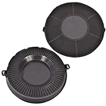 Spares2go Type 48 Charcoal Carbon Filter For Bauknecht Cooker Hood Vent (Pack Of 2, CHF037, 235 x 29 mm)