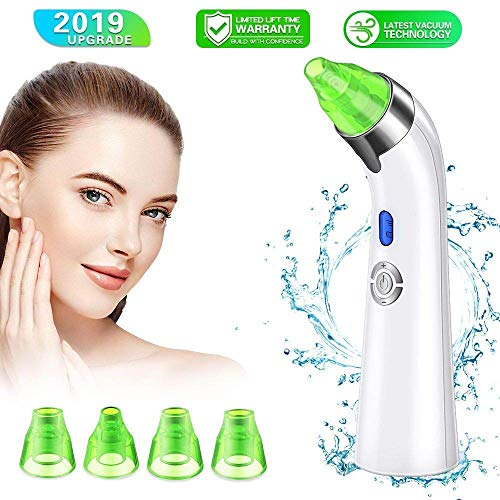 【New Version】Blackhead Remover Vacuum - Facial Pore Deep Cleaner Electric Acne Comedone Extractor Kit with Latest Vacuum Technology,Power Suction & Function Heads, Perfect for Skin Treatment (green)