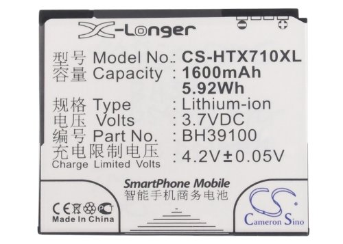 KML Battery for HTC 35H00167-00M 35H00167-01M 35H00167-03M,fit Model HTC C110e G20 Holiday Omega(1600mAh/5.92Wh,3.70V,Li-ion)