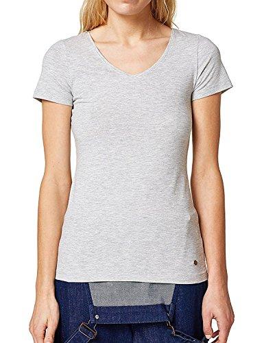 Esprit Women's Melange Fitted T-Shirt Grey in Size M Esprit Womens Tee