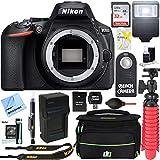 Nikon D5600 24.2MP DX-Format Full HD 1080p Digital SLR Camera (Body Only) + 64GB Deluxe Accessory Bundle (Digital SLR Deluxe Accessory Bundle)