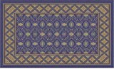 Guardian MLL-00002794 DECOR Designs Elegant Decorative Indoor Floor Mat, 6' x 8', Blue