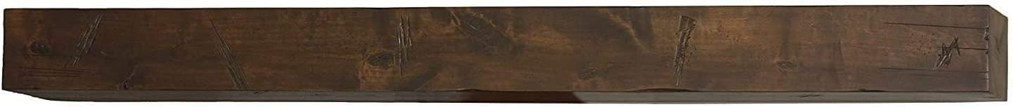 Bjorn Woodworks Shipwreck Stain Glazed Distressed Mantel Shelf (72 Inch)   Rustic Floating or Hanging Shelves   Fireplace Mantel   Perfect for Your Steampunk Inspired Furniture