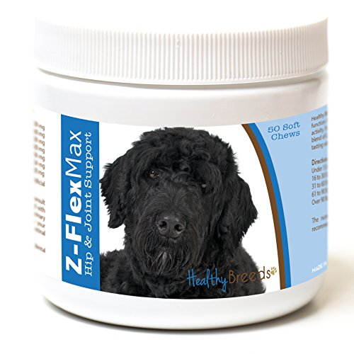 Synovig3 Chews - Healthy Breeds Z Flex Max Hip & Joint Supplement Soft Chews for Portuguese Water Dog  - OVER 100 BREEDS - Medium & Large Breed Formula - 50 Count