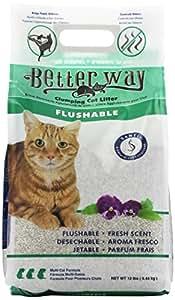 Better Way Flushable Cat Litter, 12 Pound bag