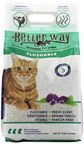 Better Way Flushable Cat Litter, 12 Pound bag