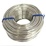 Tie Wire - (1x Roll) of Premium Stainless Steel 18 Gauge Tie Wire - 3 1/8lb - 18 GA - Rebar Tie Wire (Stainless Steel)