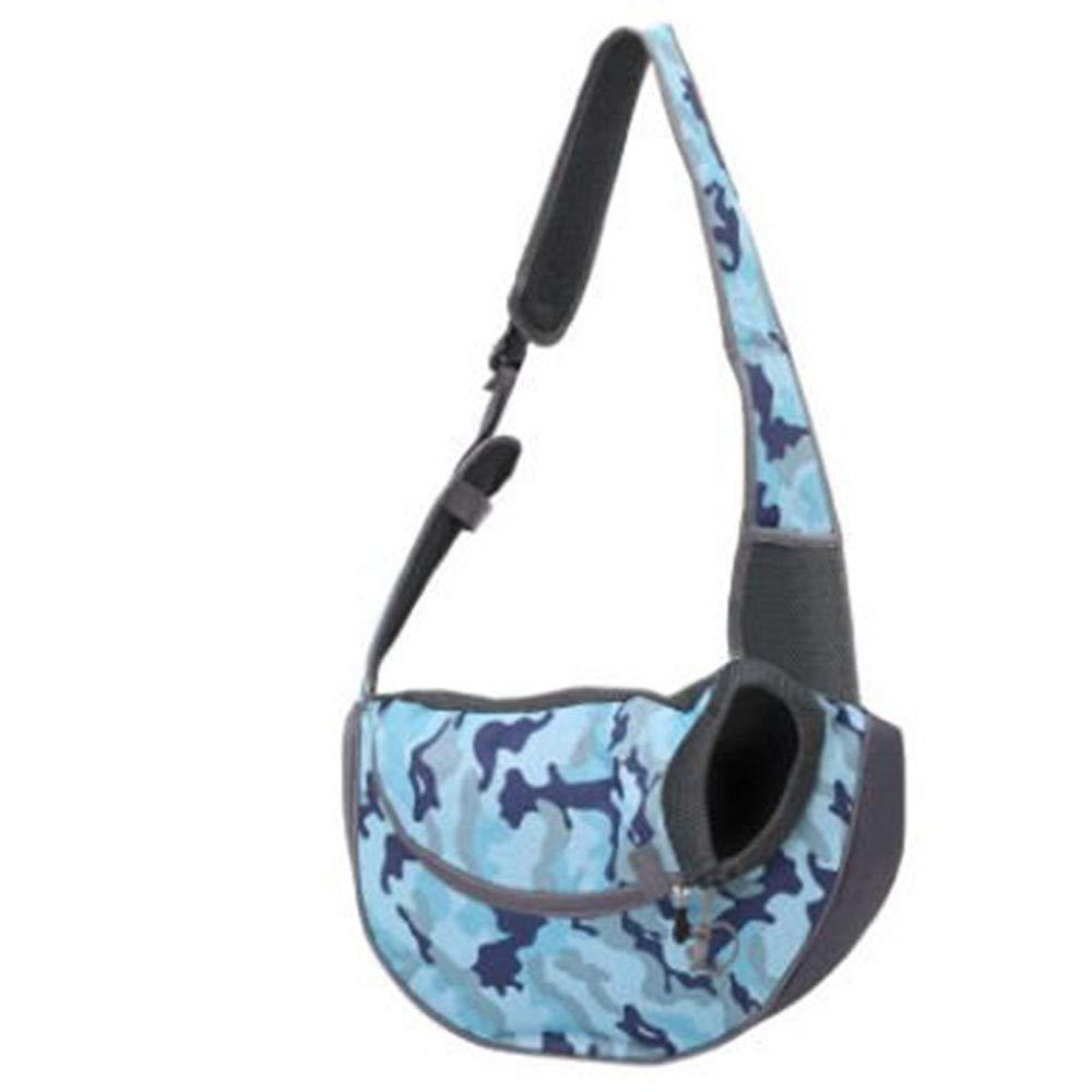 bluee camouflage LYugoujiu Dog Backpack Pet Bag Out Portable Slung Cat Bag Dog Bag Shoulder Bag Cat Dog Bag Teddy Pet,Yellow,L