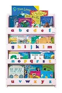 Tidy Books - Librería infantil, diseño de letras minúsculas, color rosa
