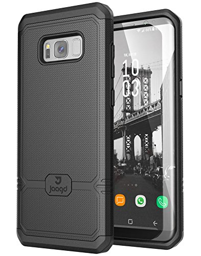 Jaagd Galaxy S8 Plus Case, S8+ Case, Shock-Absorbing Slim Dual-Layer Grip Cell Phone Cases for Samsung Galaxy S8 Plus (Black)