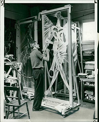 - Vintage photo of Coventry Cathedral glass panels