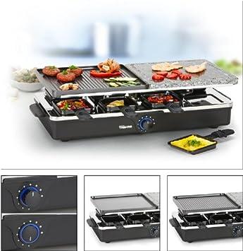 Raclette Raclett Heisser Stein Grillplatte Fur 8 Personen Amazon