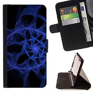 For LG Nexus 5 D820 D821 Case , Resumen espiral azul- la tarjeta de Crédito Slots PU Funda de cuero Monedero caso cubierta de piel