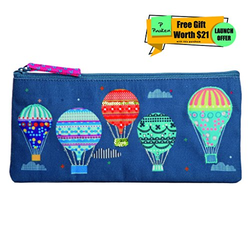 Pinake Pencil Case, Jewelry Organizer, Travel, Cosmetic & School Bag. Best Tool Pouch and Pen Holder to hold School Supplies like Highlighters, Markers, Gel Pens, etc. (School Box Tool)