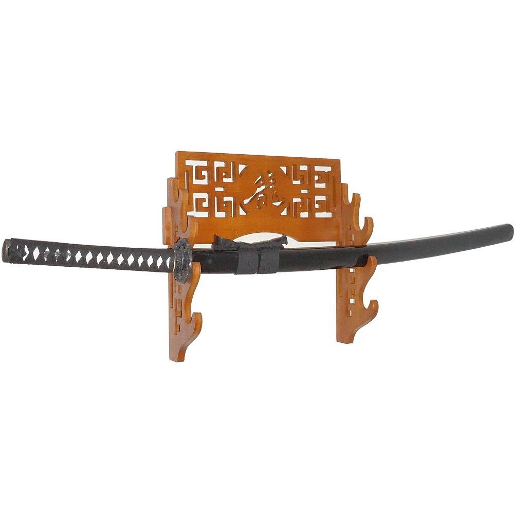 Eforlife 4 Tier Sword Stand Wall Mount Bamboo Samurai Sword Rack Hanger Katana Wakizashi Tanto Genji Sword Holder (Dragon) by Eforlife